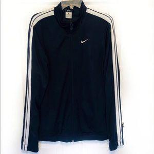 Nike Navy Blue with White Stripes Jacket